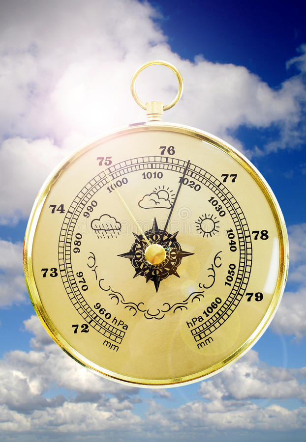 Oude Barometer royalty-vrije stock afbeelding