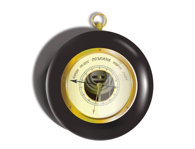 Oude barometer vector illustratie