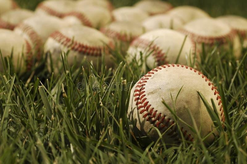 Oude Baseballs royalty-vrije stock afbeeldingen