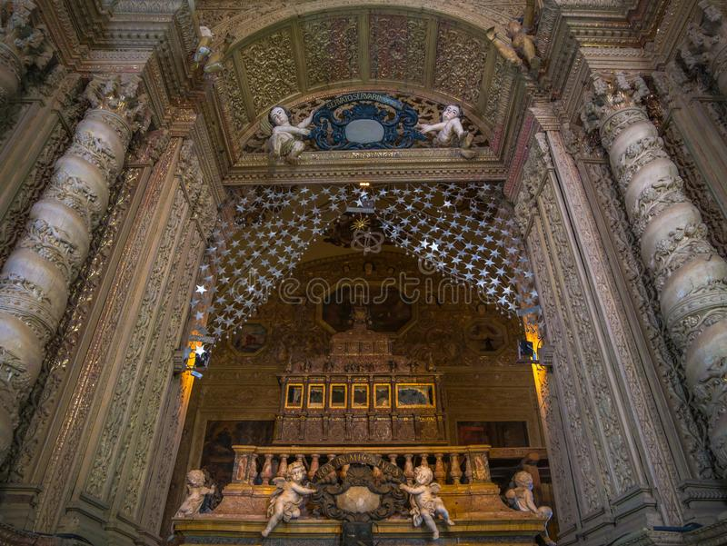 Oude Basiliek van de kerk van Bom Jesus stock foto
