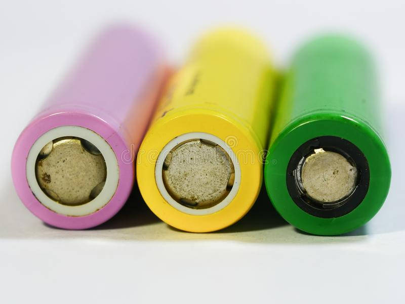 Oude batterijen stock foto