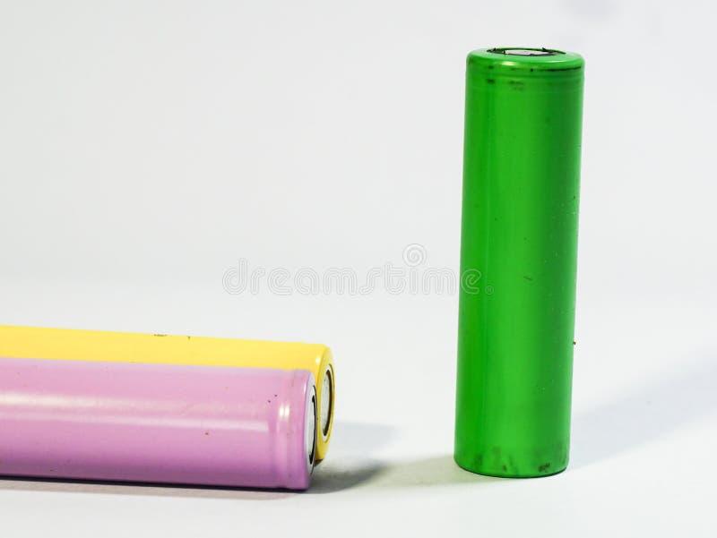 Oude batterijen royalty-vrije stock afbeeldingen