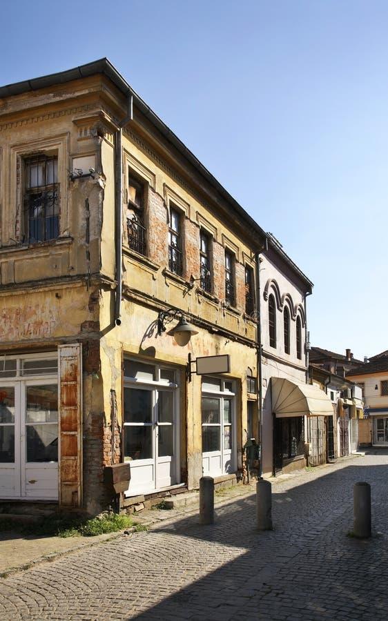 Oude bazaar in Bitola macedonië stock foto's