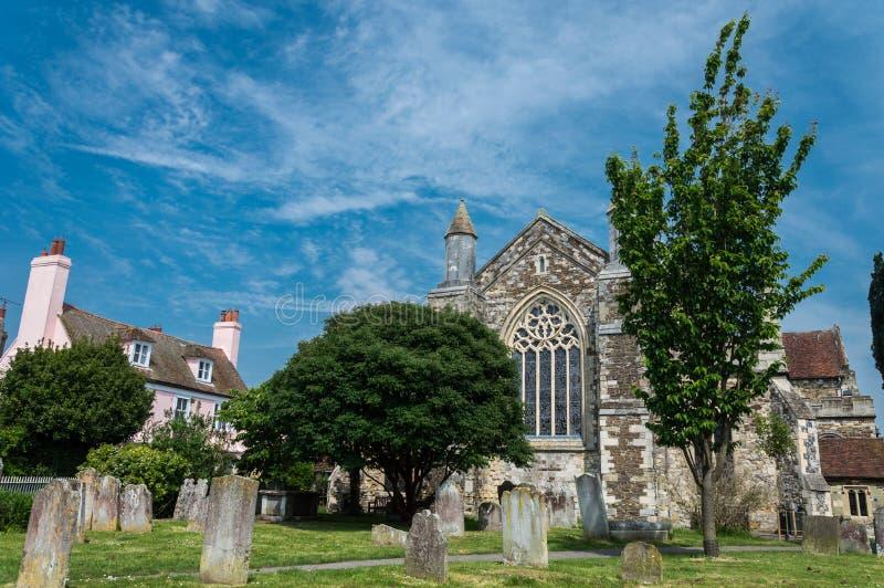 Oude Begraafplaats in Rogge in Oost-Sussex royalty-vrije stock foto