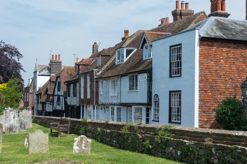 Oude Begraafplaats in Rogge in Oost-Sussex royalty-vrije stock foto's