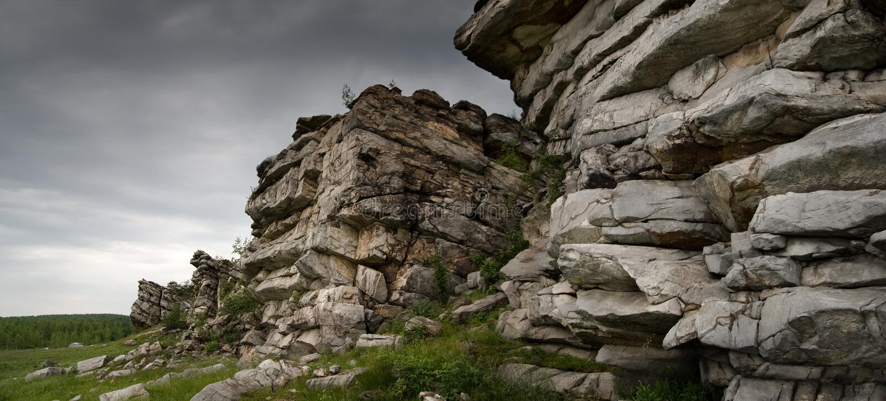 Oude bergen royalty-vrije stock foto's