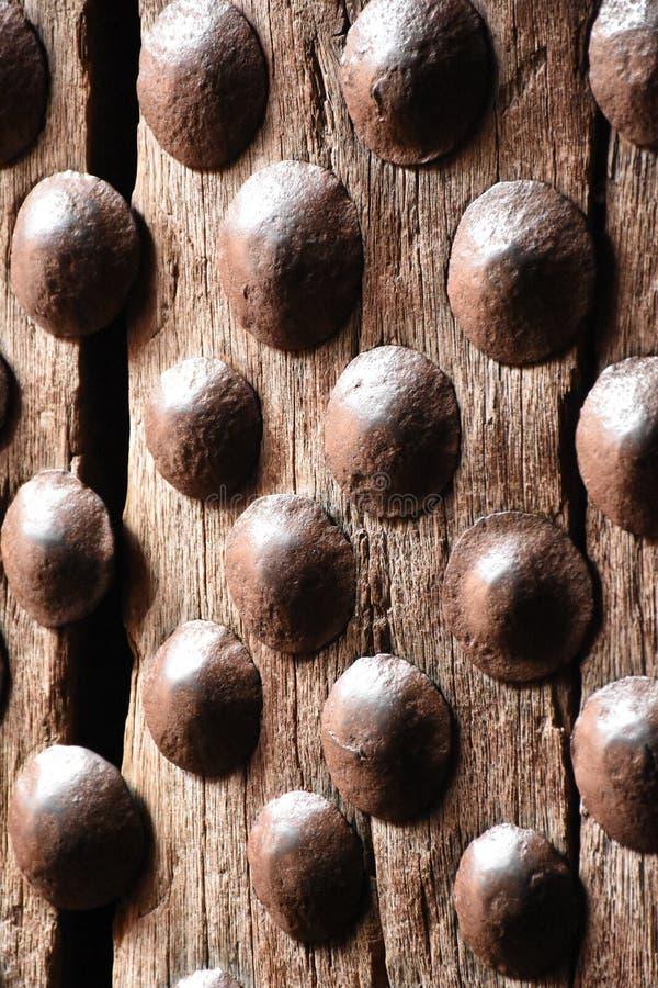Oude Beslagen deur in Ethiopi? stock afbeelding