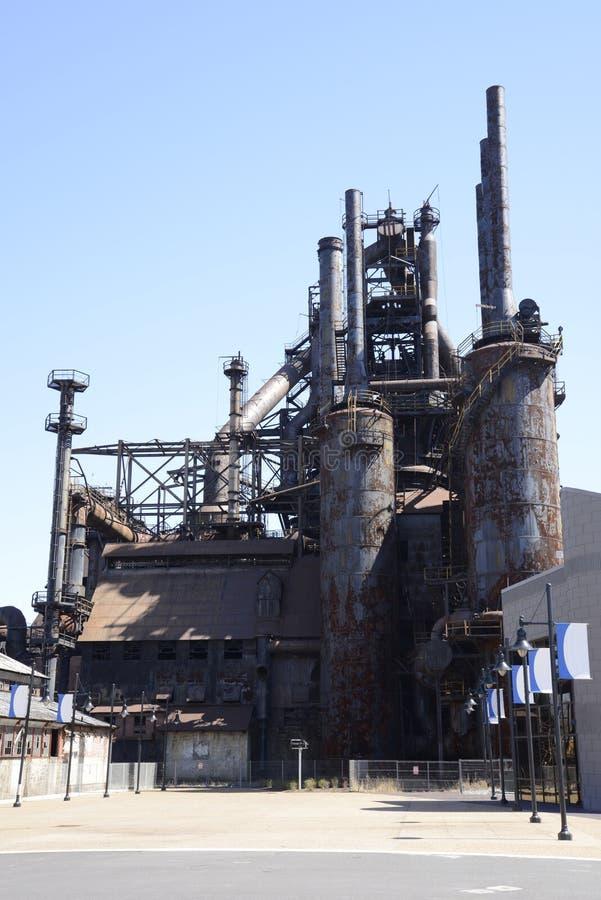 Oude Bethlehem staalfabriek in Pennsylvania royalty-vrije stock foto