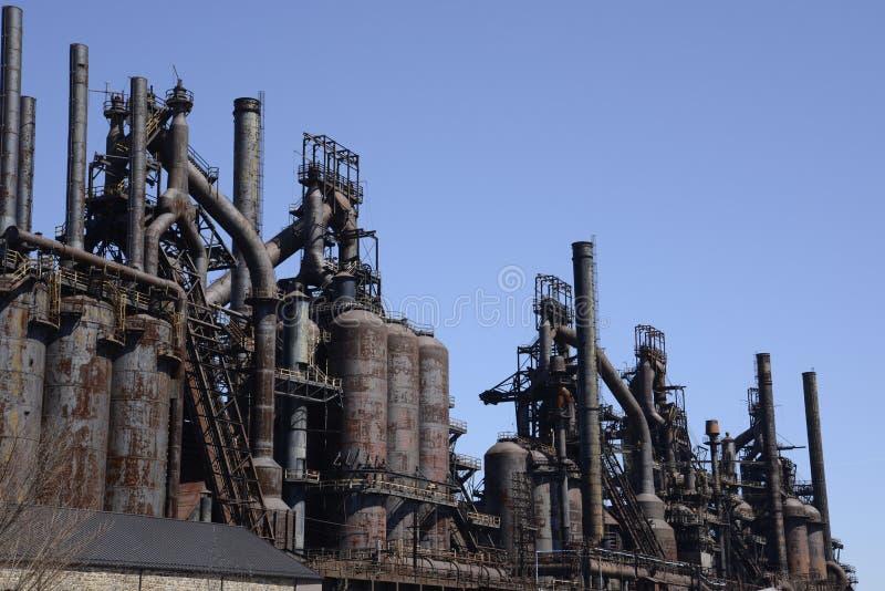 Oude Bethlehem staalfabriek in Pennsylvania stock fotografie