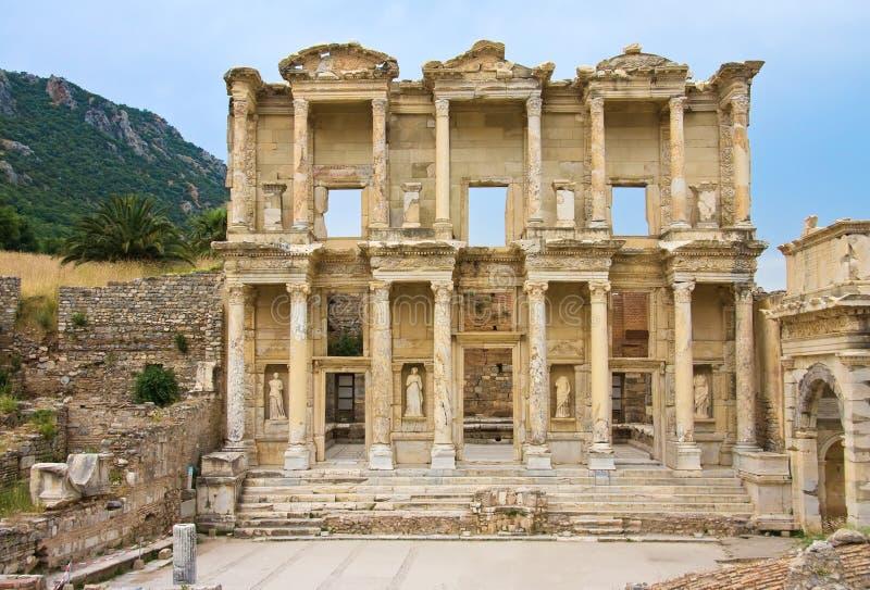 Oude bibliotheek van Celsus stock afbeelding