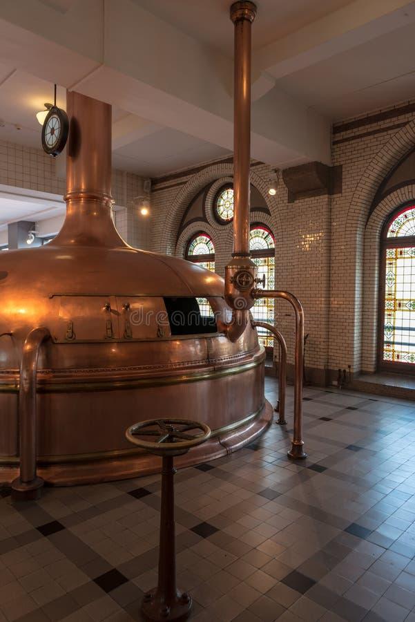 Oude biertank stock foto