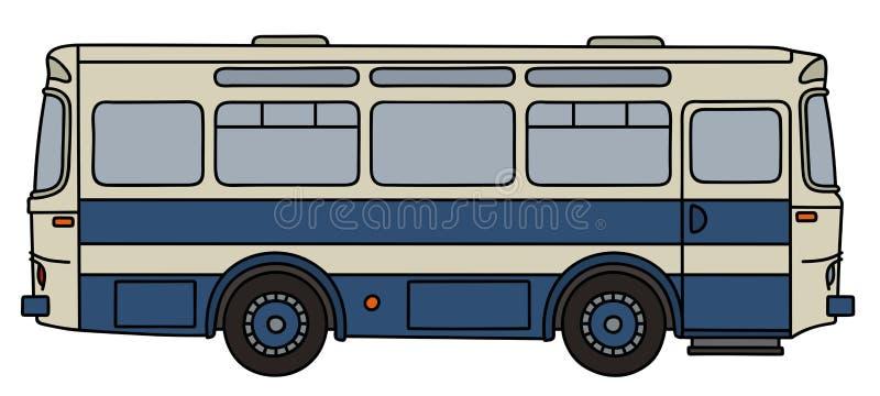 Oude blauwe bus royalty-vrije illustratie