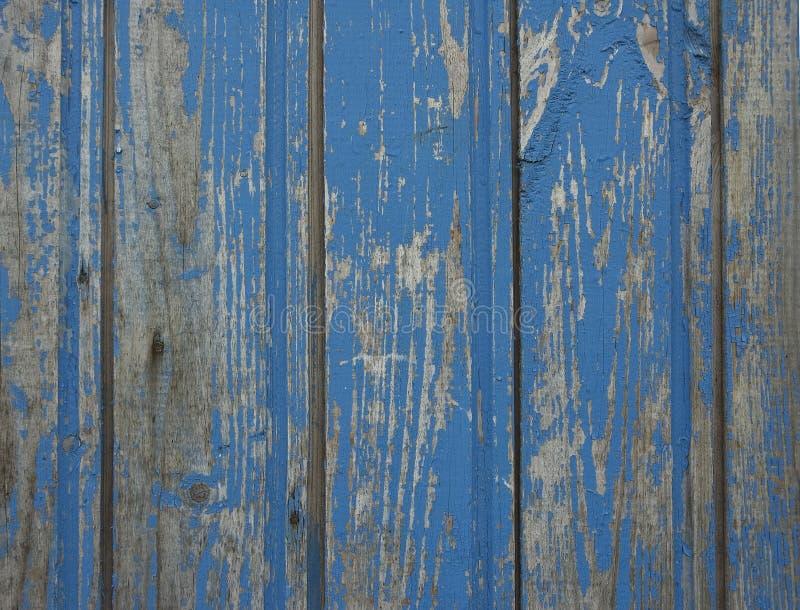 Oude blauwe houten muur royalty-vrije stock fotografie