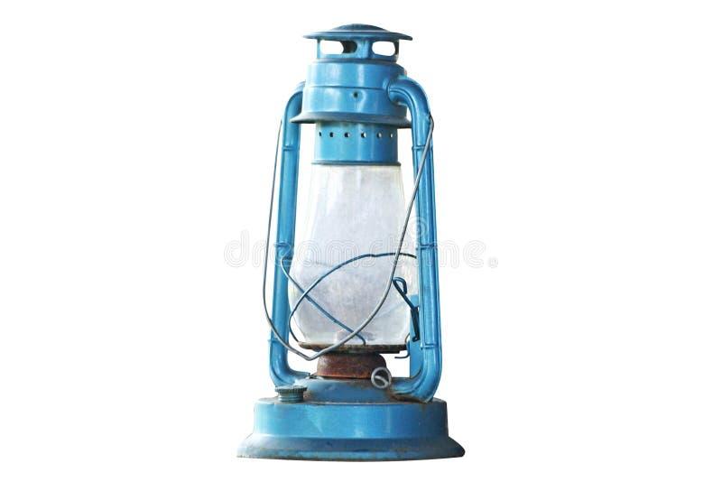 Oude blauwe lamp stock afbeeldingen