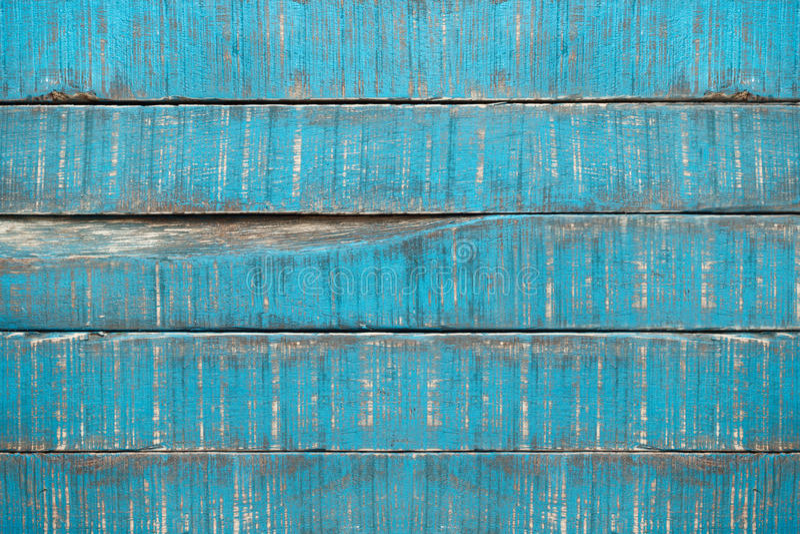 Oude blauwe parketplanken stock foto