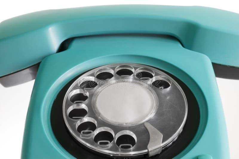 Oude blauwe telefoon royalty-vrije stock fotografie
