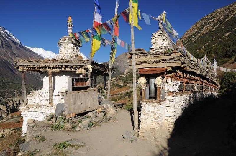 Oude Boeddhistische stupa, Nepal stock fotografie