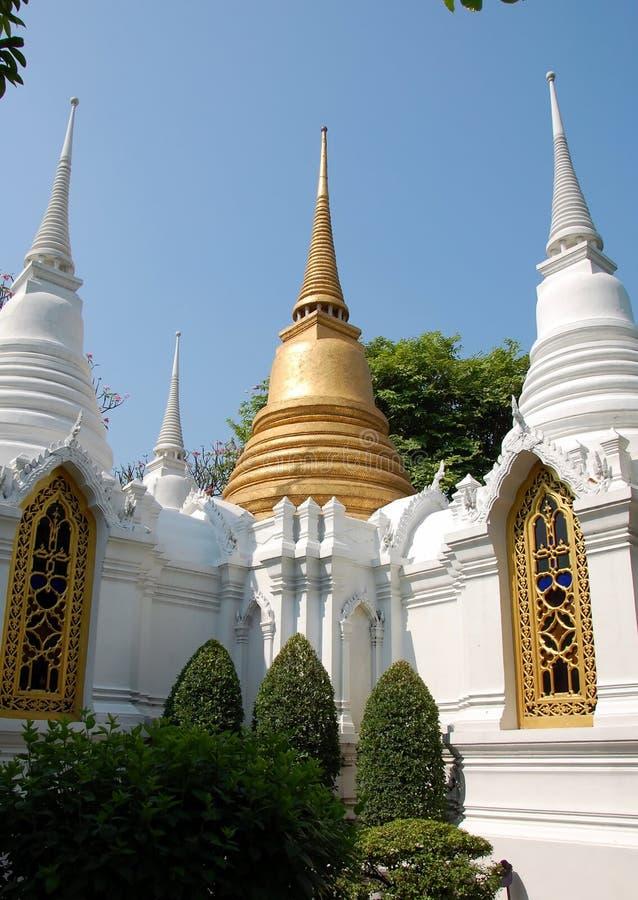 Oude Boeddhistische stupas stock foto's