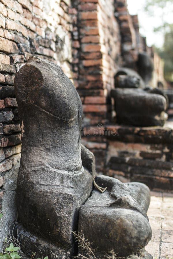 Oude Boeddhistische Tempel Wat Mahathat stock foto's