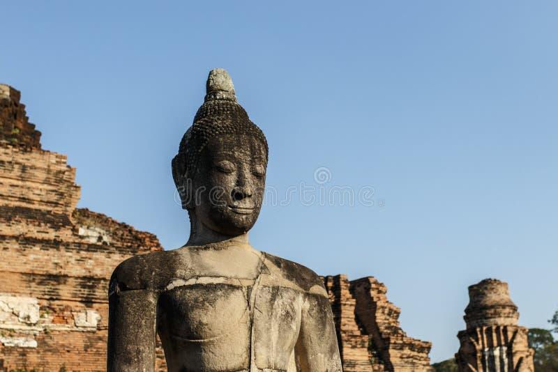 Oude Boeddhistische Tempel Wat Mahathat stock afbeelding