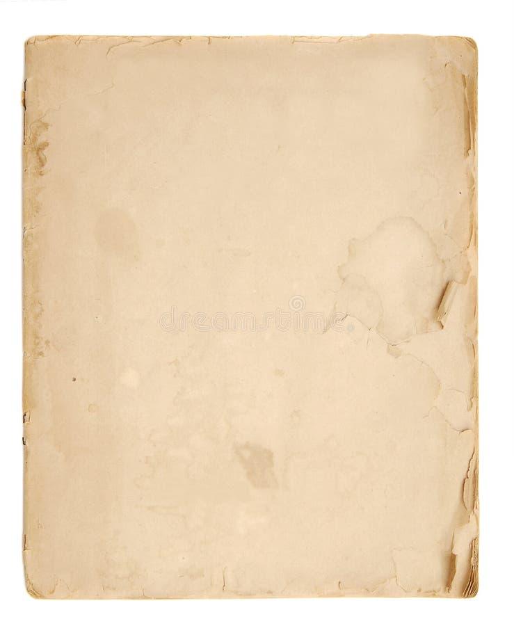 Oude boek blanco pagina's royalty-vrije stock foto's