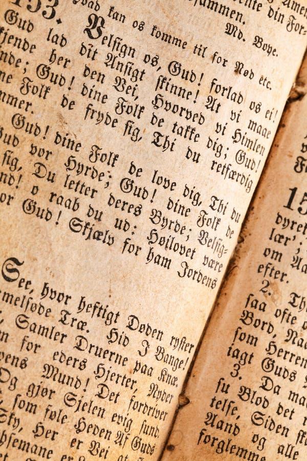 Oude boekpagina stock afbeelding