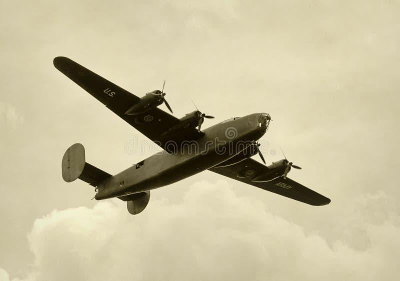 Oude bommenwerper royalty-vrije stock foto