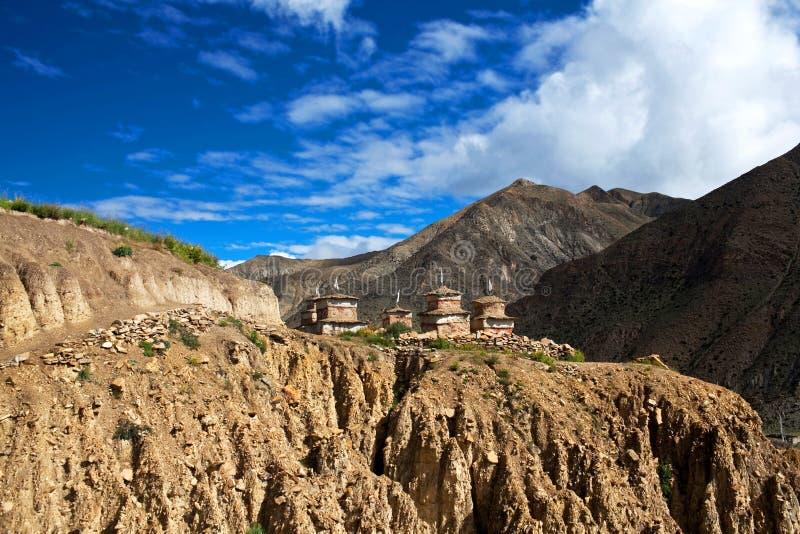 Oude Bon-stupa in Dolpo-gebied, Nepal stock afbeeldingen