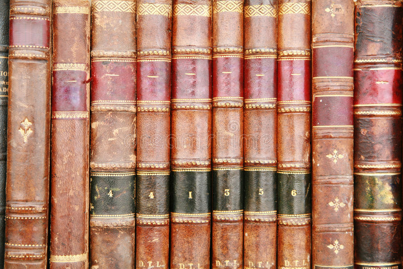 Oude Bookds stock fotografie