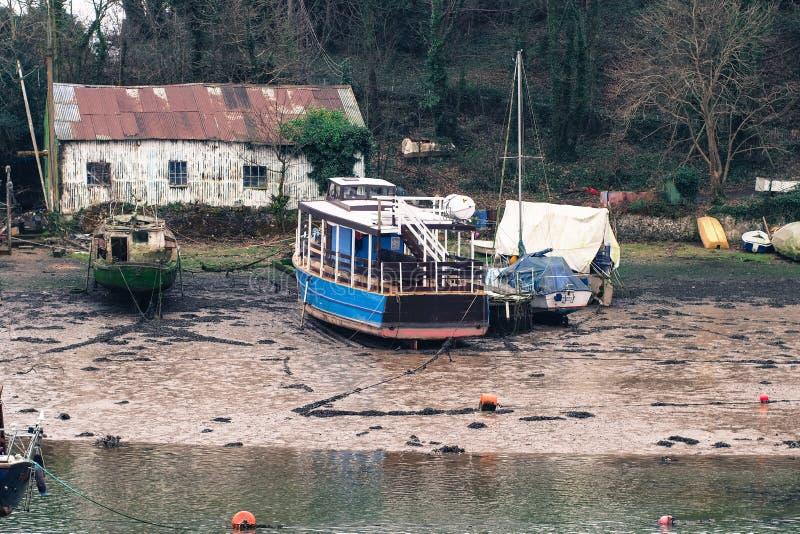 Oude boten onbeweeglijk royalty-vrije stock fotografie