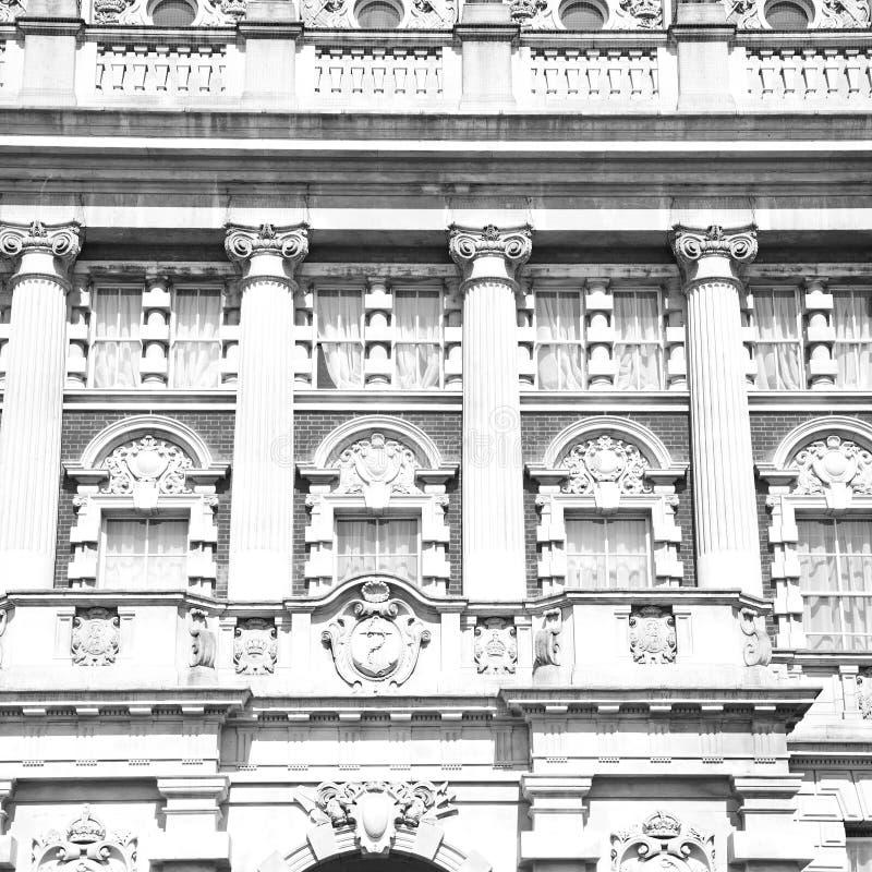 oude bouw in de muurantiquiteit en licht van Engeland en van Europa Londen stock fotografie