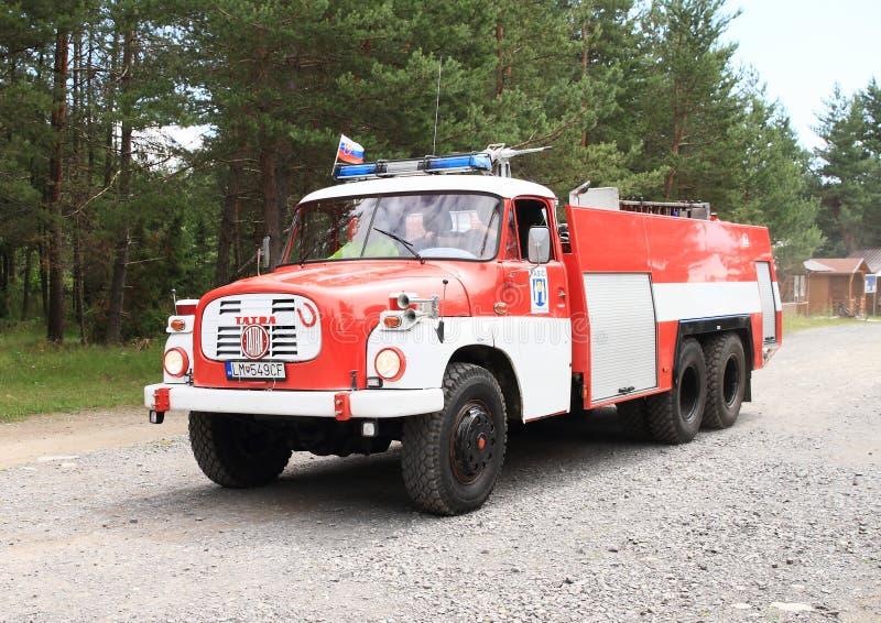 Oude brandbestrijdersauto royalty-vrije stock fotografie