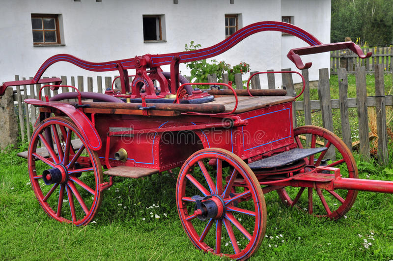 Oude brandmotor royalty-vrije stock foto's
