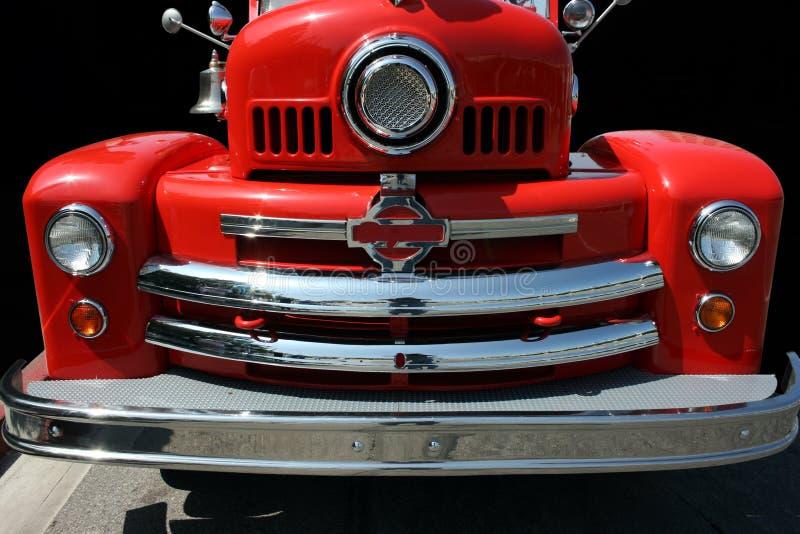 Oude brandvrachtwagen stock fotografie