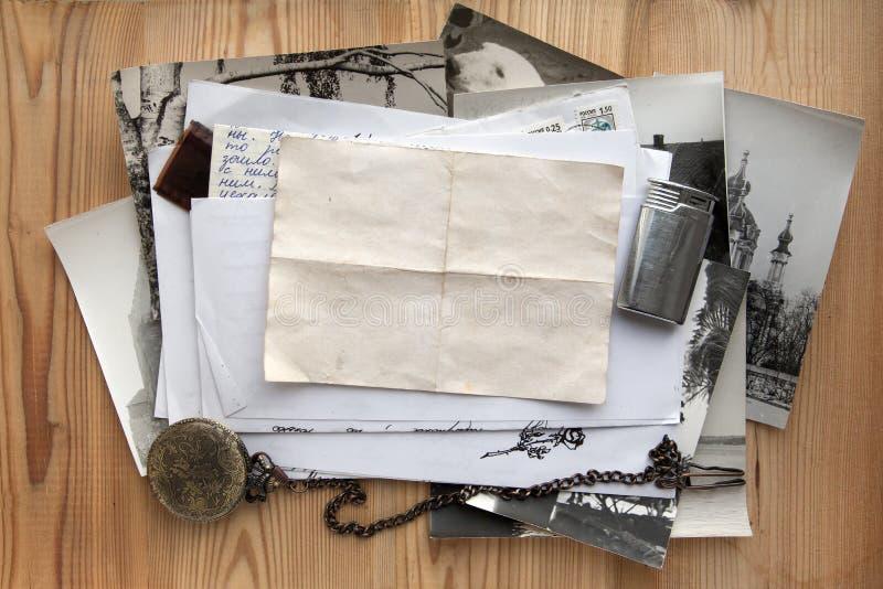 Oude brieven stock foto's