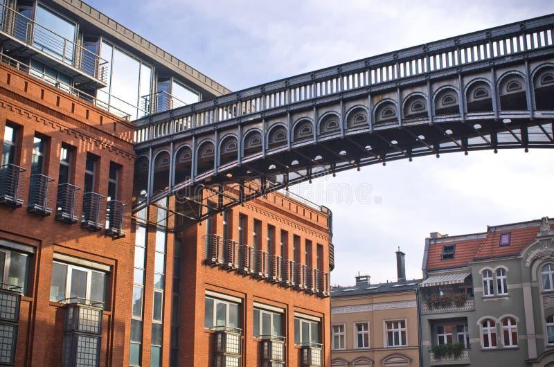 Oude brouwerij in Poznan, Polen stock foto's