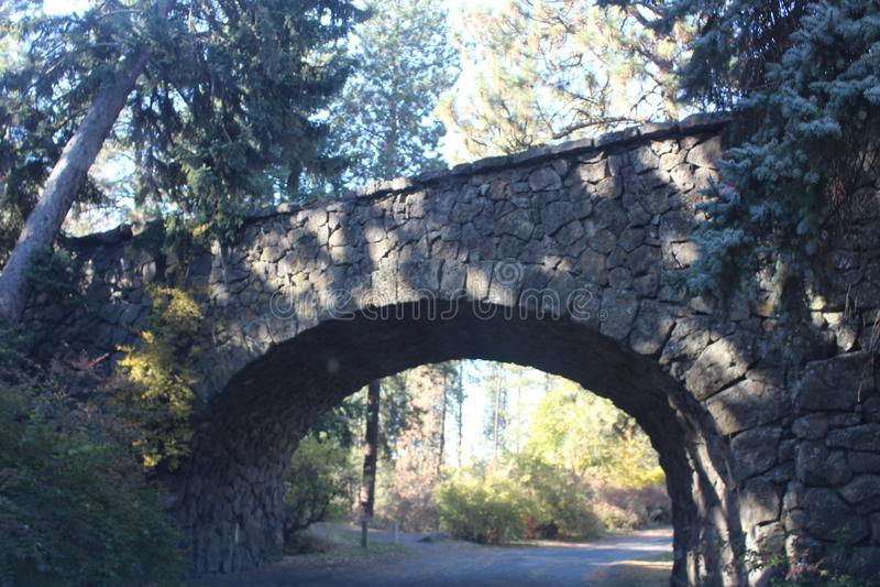 Oude brug van hoop royalty-vrije stock foto's