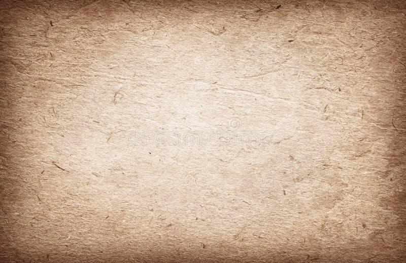 Oude bruine gerecycleerde uitstekende document textuur of achtergrond stock afbeeldingen