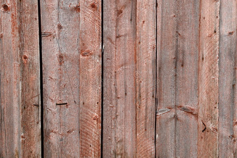 Oude bruine houten muur, gedetailleerde achtergrondfototextuur Houten dichte omhooggaand van de plankomheining royalty-vrije stock foto