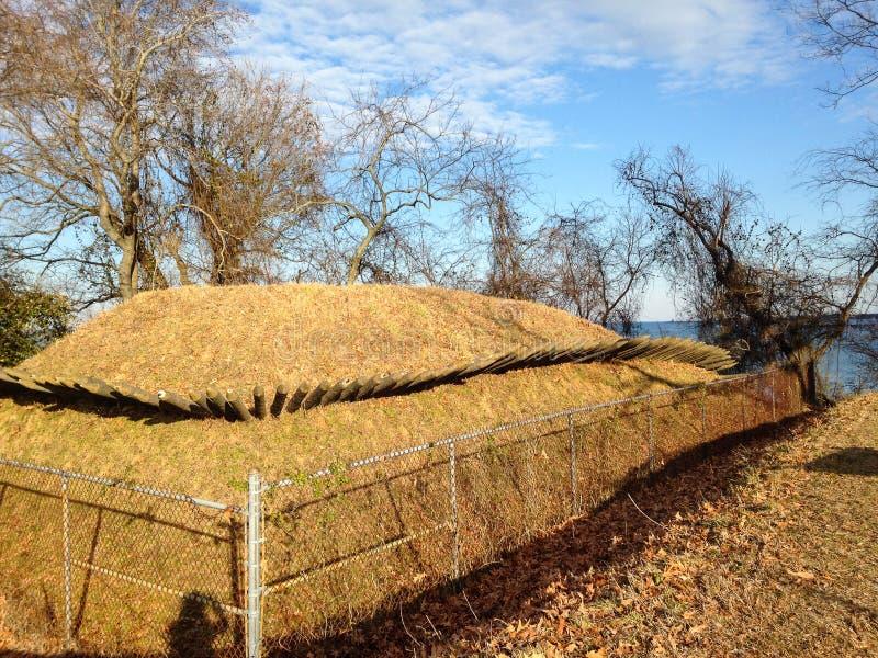 Oude bunker royalty-vrije stock afbeeldingen
