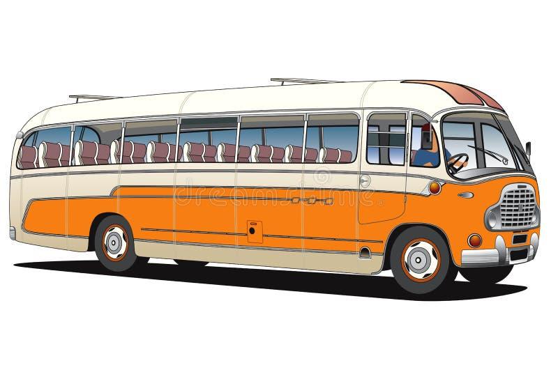 Oude bus stock illustratie