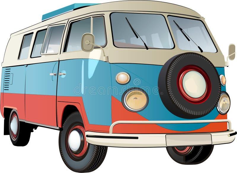 Oude bus vector illustratie
