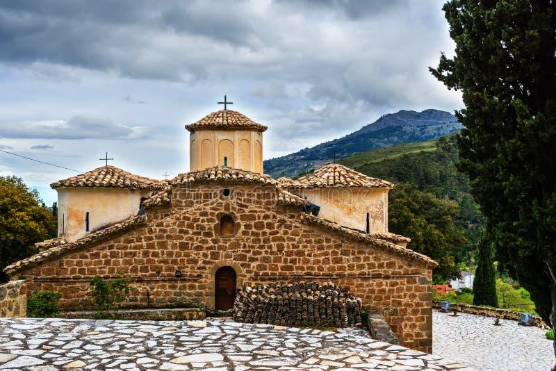 Oude Byzantijnse Kerk in Griekenland royalty-vrije stock afbeeldingen