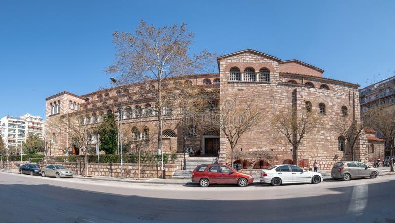 Oude Byzantijnse Kerk van Heilige Demetrius, Thessaloniki, Griekenland royalty-vrije stock foto