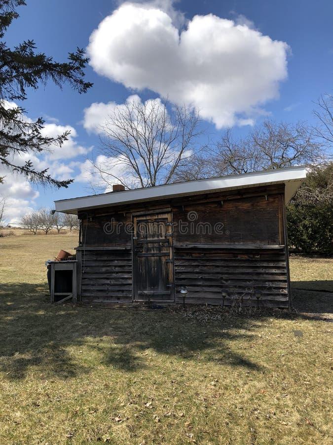 Oude cabine stock foto