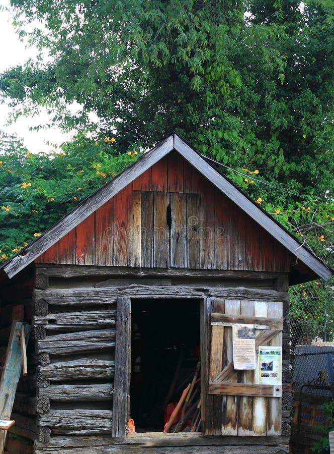 Oude cabine stock afbeelding