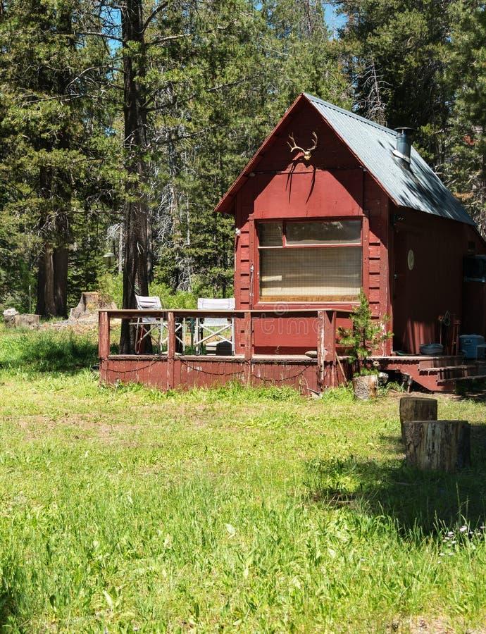 Oude cabine in het bos royalty-vrije stock afbeeldingen