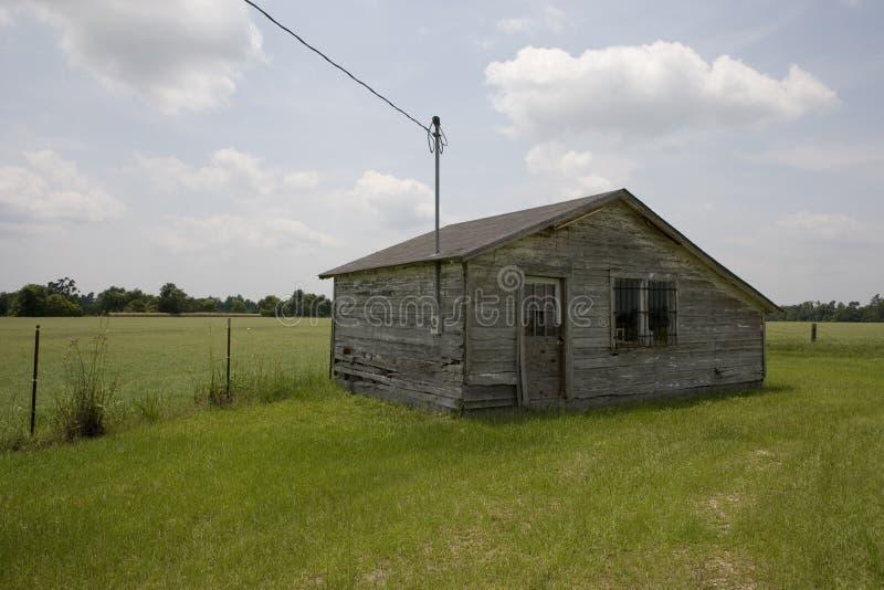 Oude cabine, Marion County, Zuid-Carolina. royalty-vrije stock foto