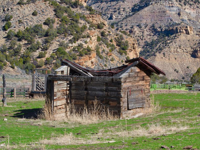 Oude Cabine op Baxter Pass stock afbeeldingen