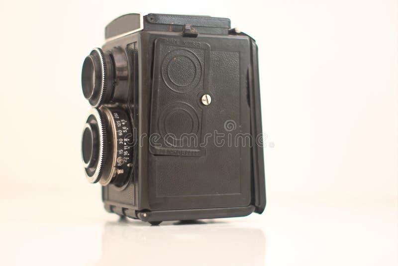 Oude camera die Wijnoogst retoucheren royalty-vrije stock afbeelding